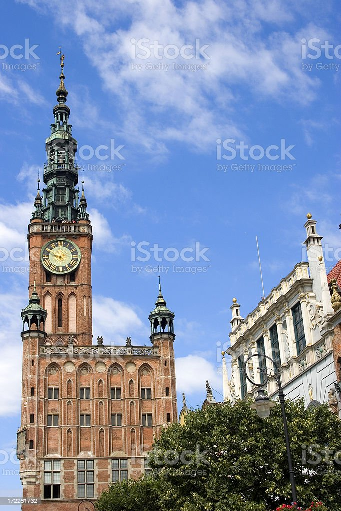 Town hall, Gdansk, Poland royalty-free stock photo
