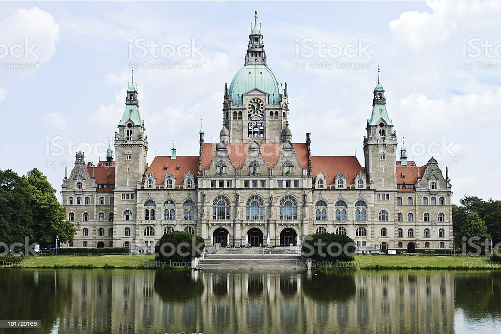 Town Hall Hannover, Germany royalty-free stock photo