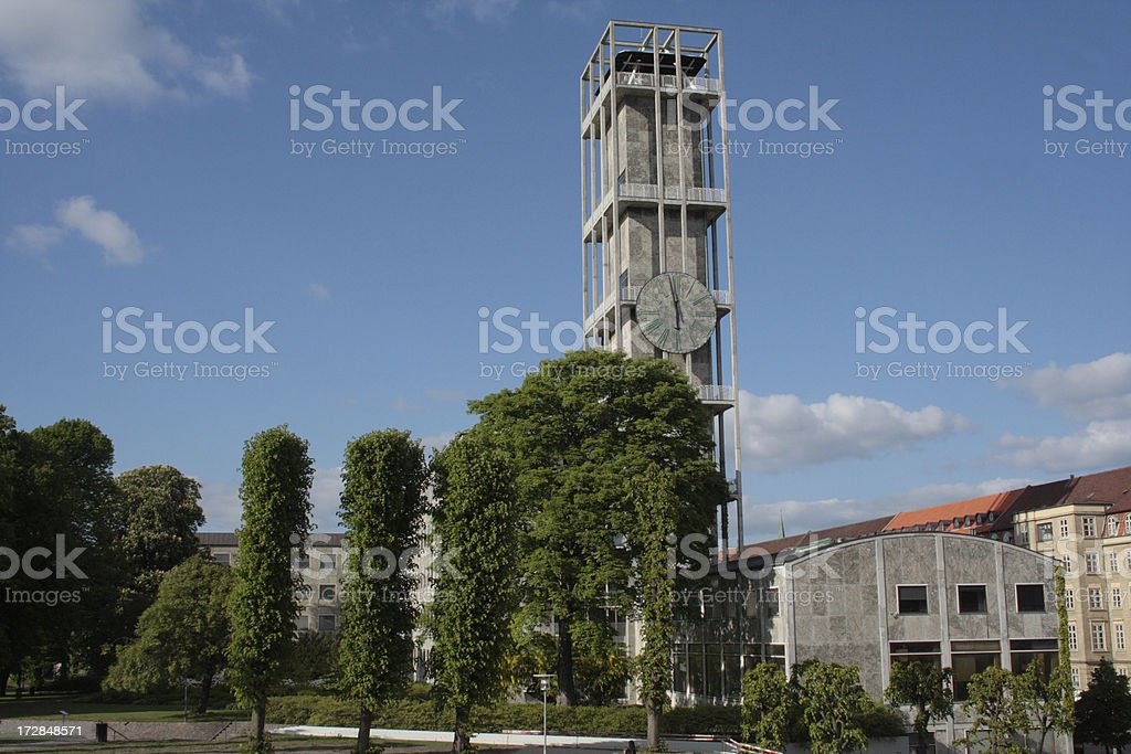 Town hall in Aarhus stock photo