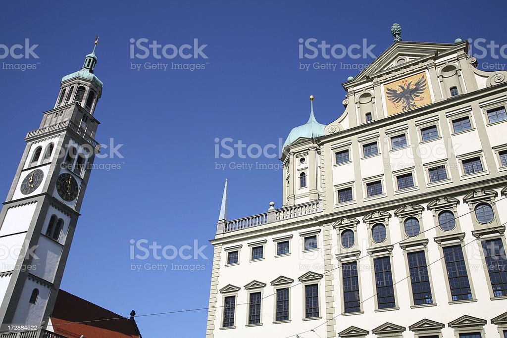 Town Hall in Augsburg, Bavaria royalty-free stock photo