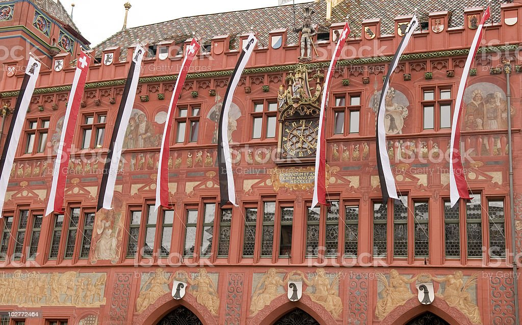Town Hall in Basel Switzerland royalty-free stock photo