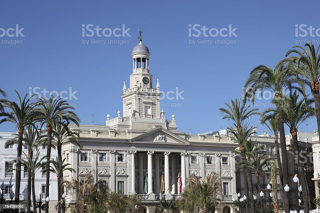 Town hall in Cadiz, Spain royalty-free stock photo