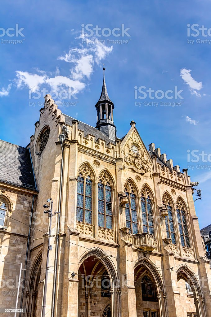 Town hall in Erfurt stock photo