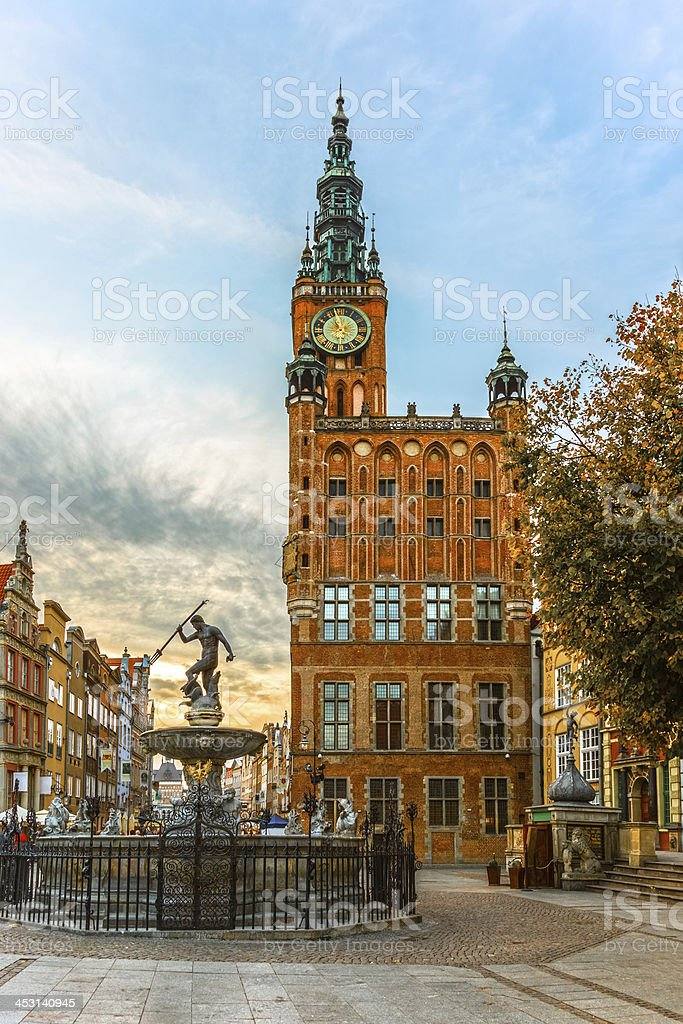 Town Hall in Gdansk, Poland royalty-free stock photo