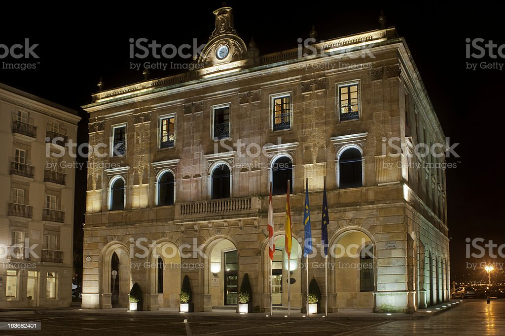 Town hall in Gij?n, Spain royalty-free stock photo