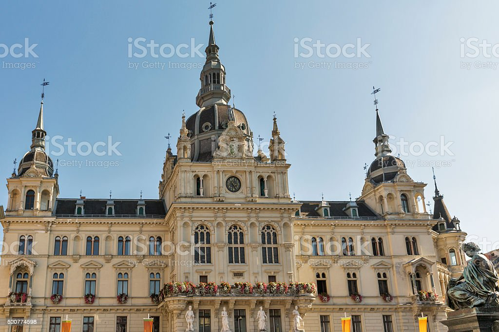 Town hall in Graz, Austria stock photo