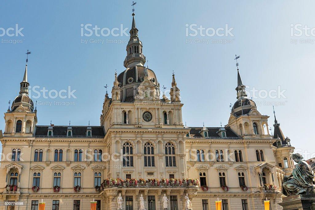 Town hall in Graz, Austria stock photo