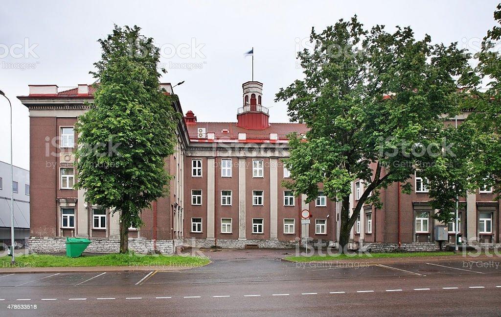 Town hall in Johvi. Estonia stock photo