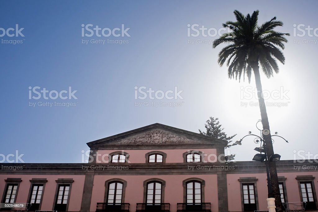 Town hall in La Orotava, Tenerife, Spain stock photo