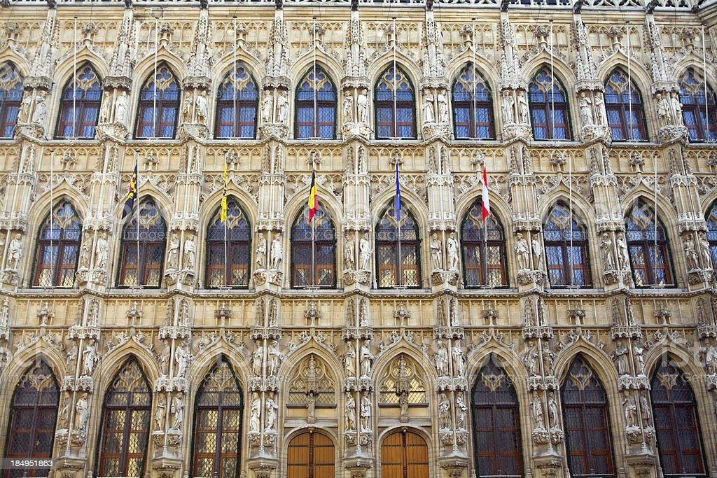 Town hall in Leuven stock photo