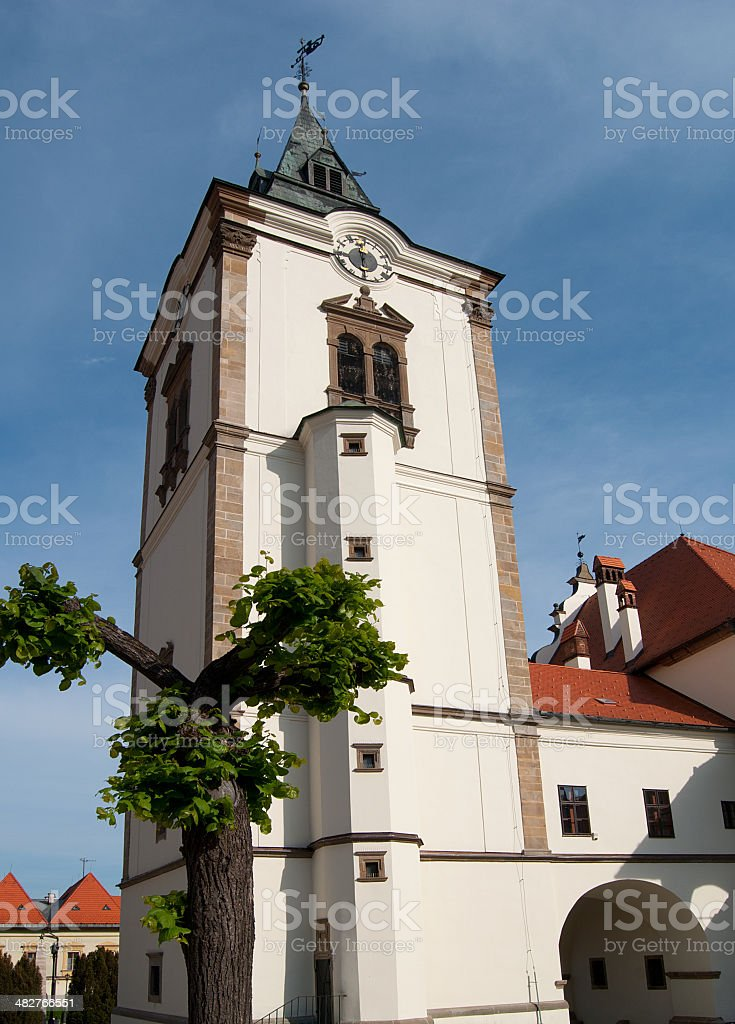 Ayuntamiento en Levoca foto de stock libre de derechos