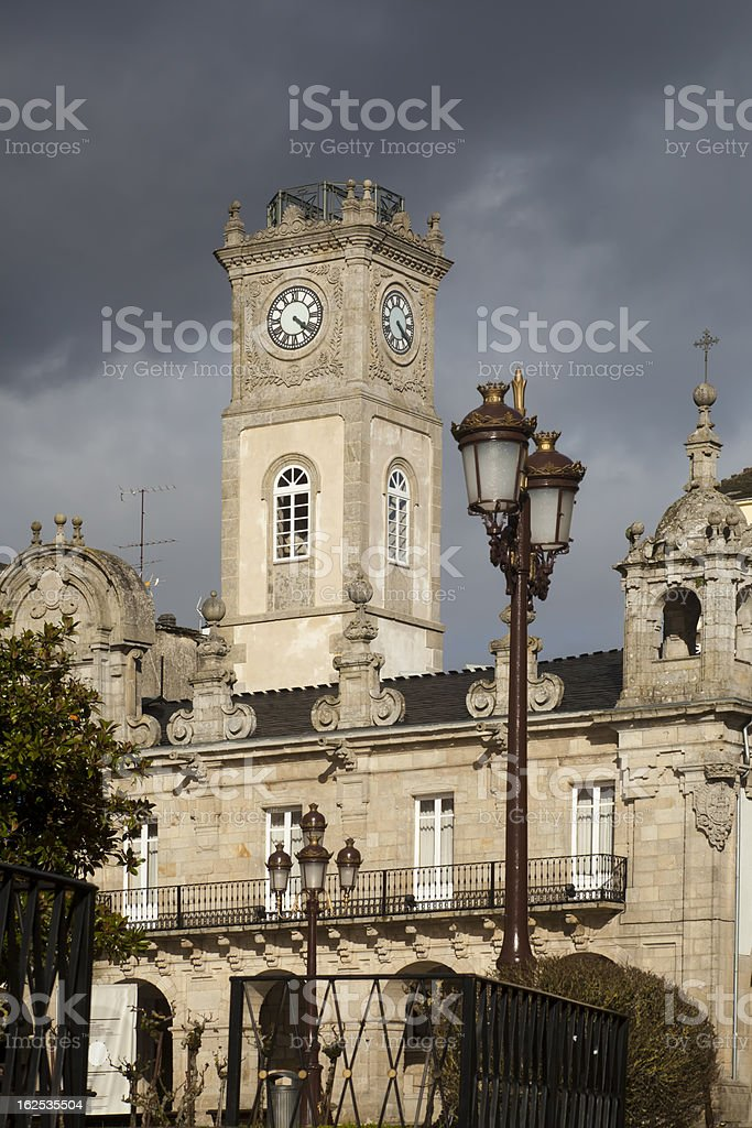 Town hall in Lugo,Spain stock photo