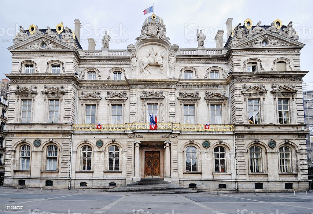 Town Hall in Lyon, France royalty-free stock photo