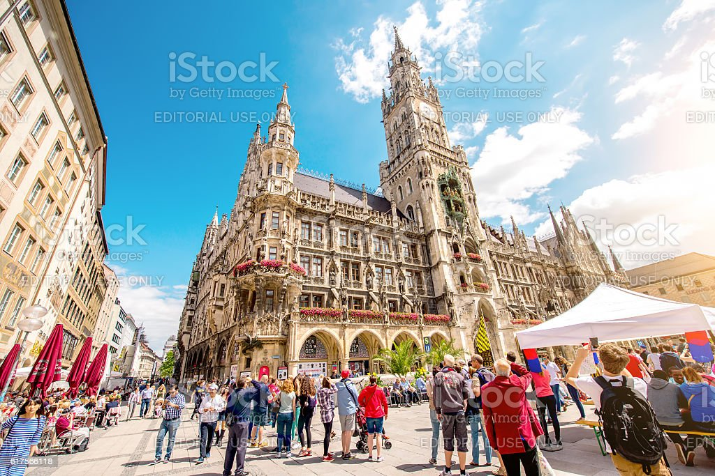 Town hall in Munich stock photo