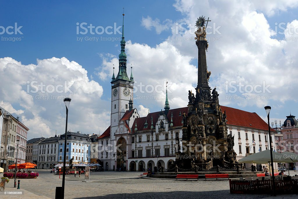 Town Hall in Olomouc, Czech Republic stock photo