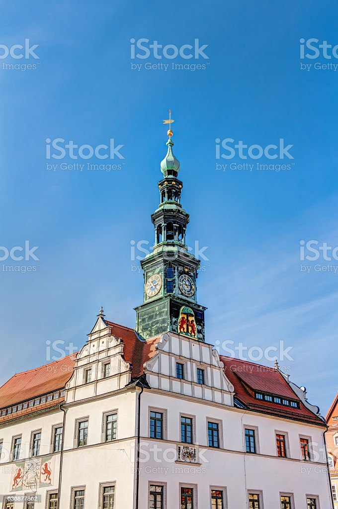 Town hall in Pirna stock photo