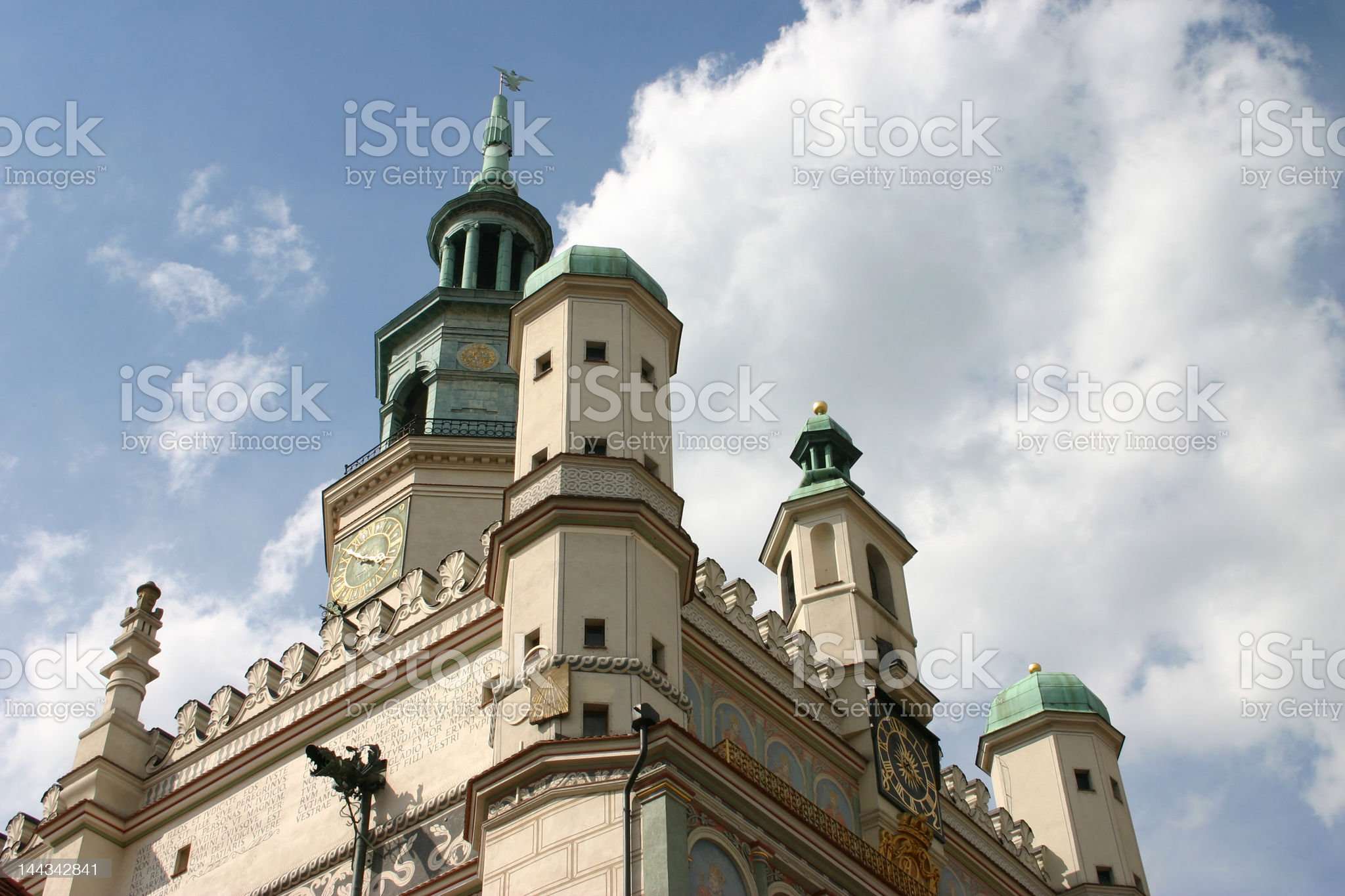 town hall in poznan royalty-free stock photo