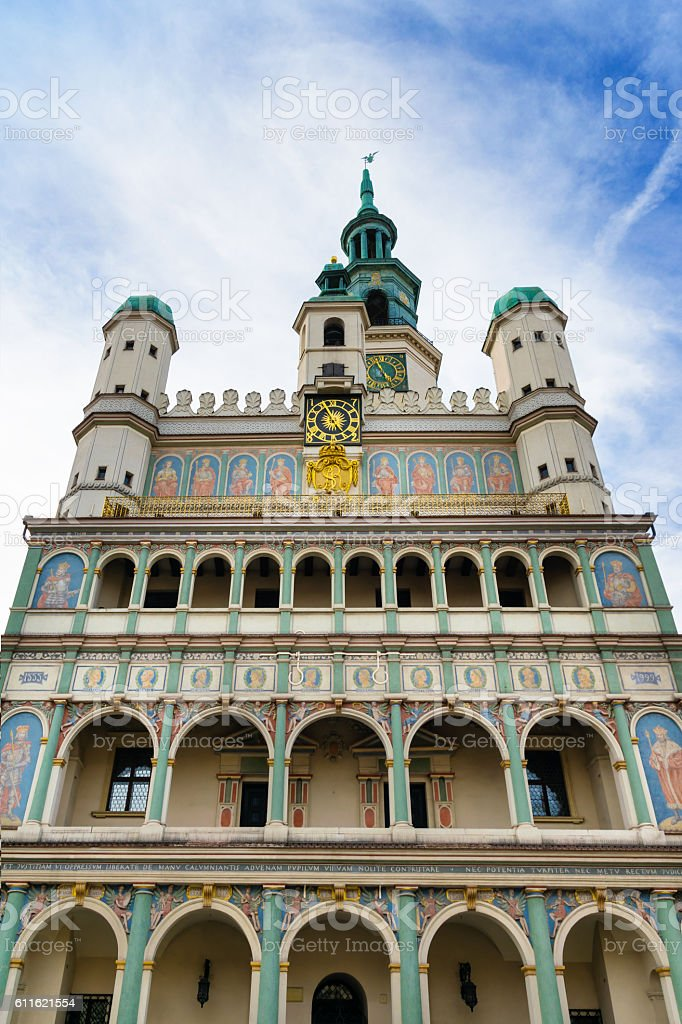 Town hall  in Poznan stock photo
