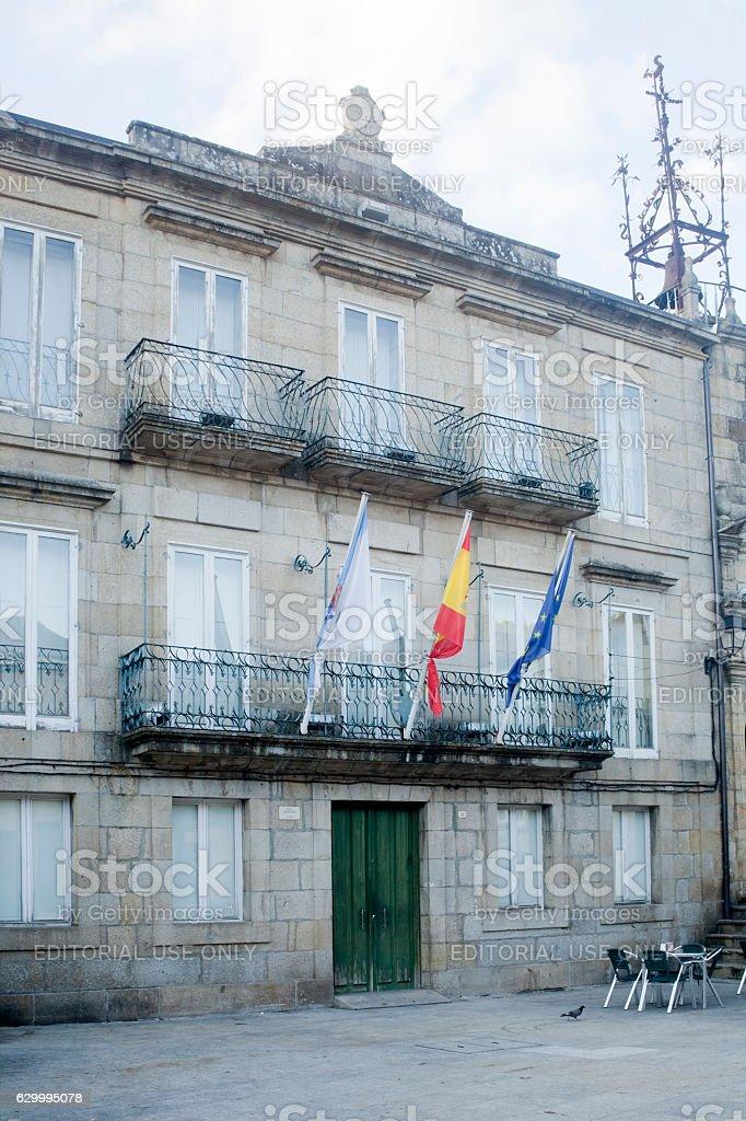 Town hall in Ribadavia, Ourense, Galicia, Spain. stock photo