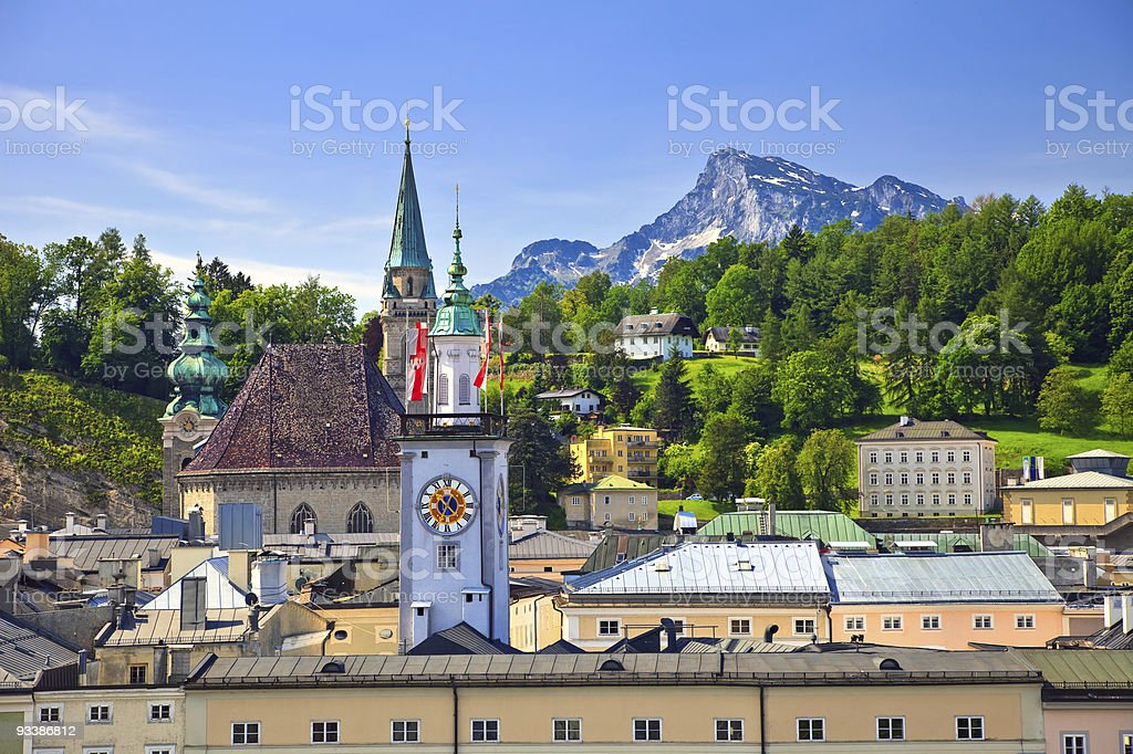 Town hall in Salzburg stock photo