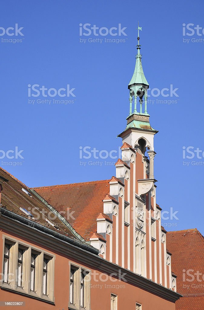 Town Hall in Straubing, Bavaria stock photo