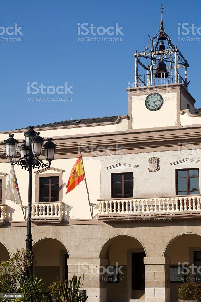 Town hall in Vegadeo, Asturias, Spain. stock photo