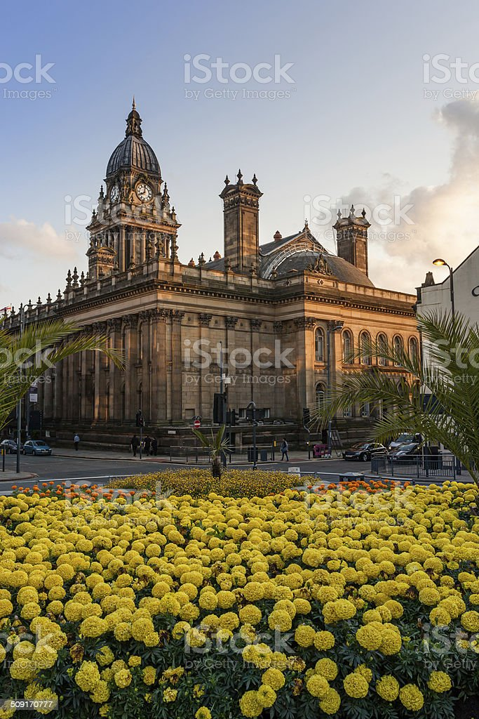 Town hall leeds stock photo