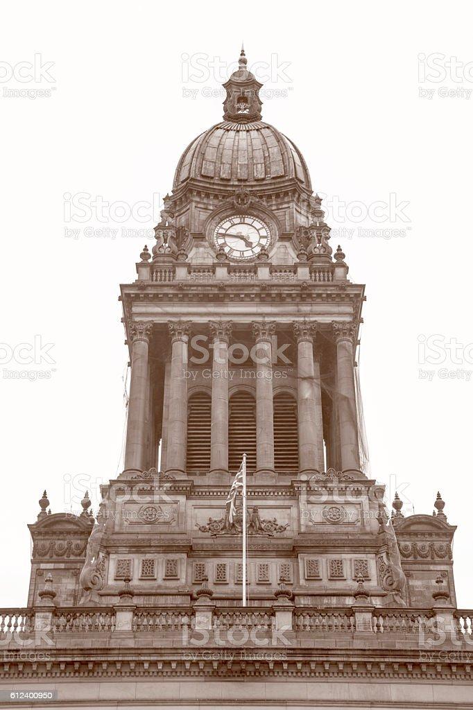 Town Hall; Leeds; Yorkshire stock photo