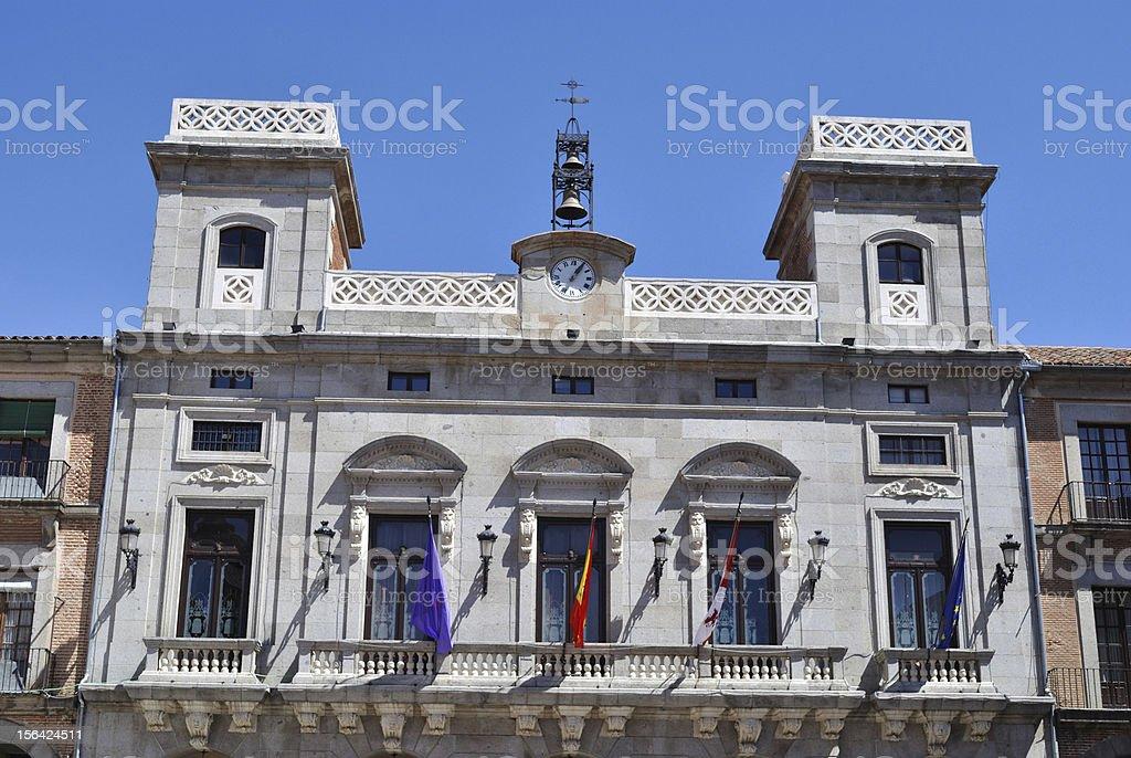 Town Hall of Avila (Spain) royalty-free stock photo