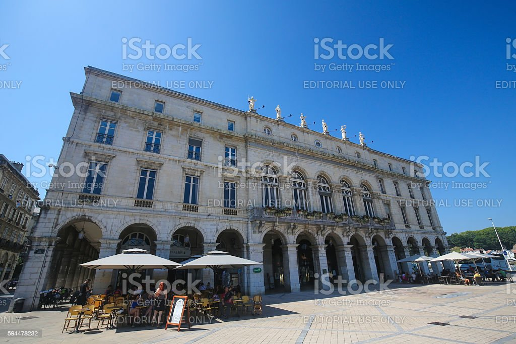 Town Hall of Bayonne, France stock photo