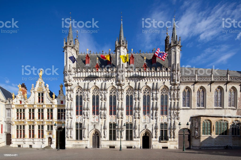 Town Hall Of Bruges stock photo