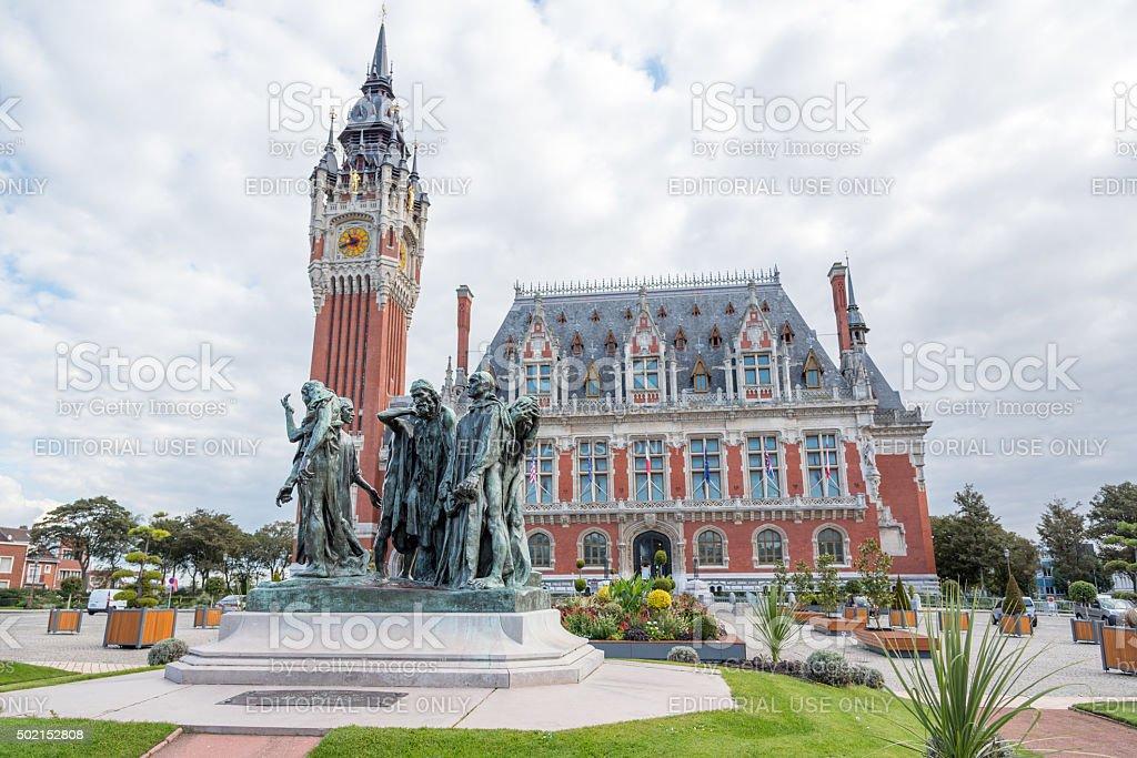 Calais, France - September 26, 2015: Town hall of Calais. stock photo