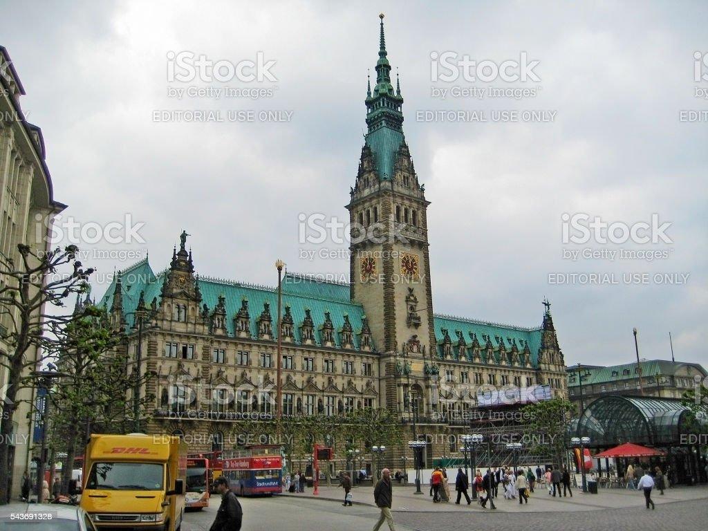 Town hall of Hamburg, Germany stock photo