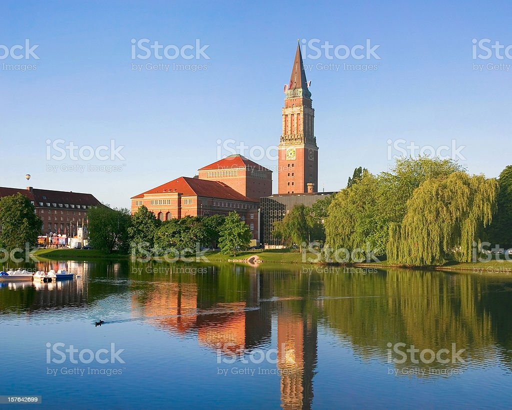 Town hall of Kiel in Germany stock photo