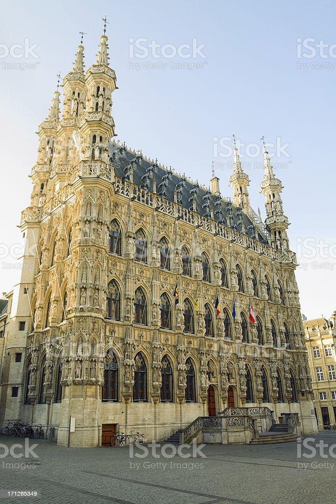 Town hall of Leuven stock photo