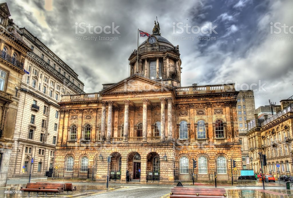 Town Hall of Liverpool - England, UK stock photo