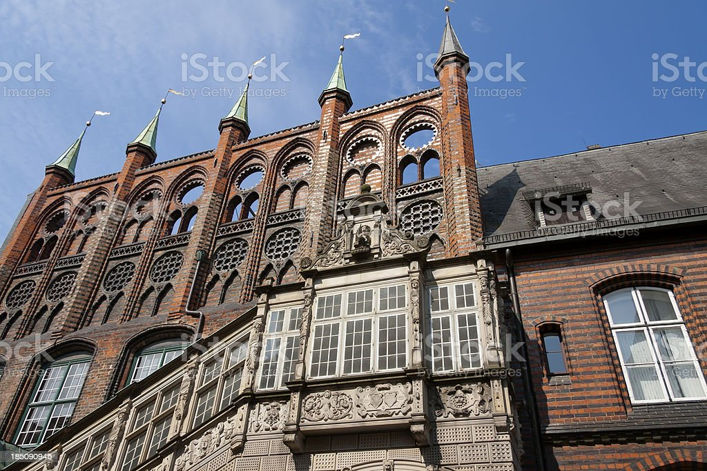 'Town Hall of Luebeck, Germany' stock photo