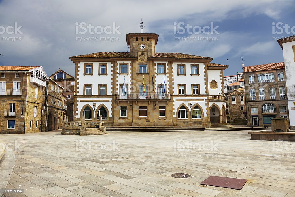 Town hall of Muros stock photo