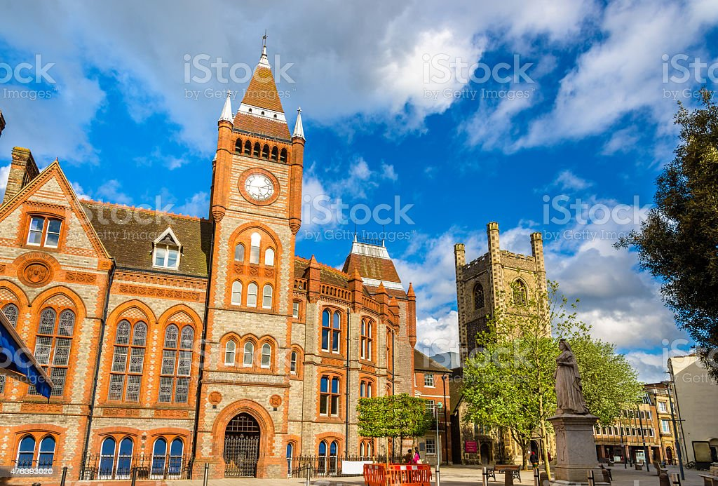 Town hall of Reading - England, United Kingdom stock photo