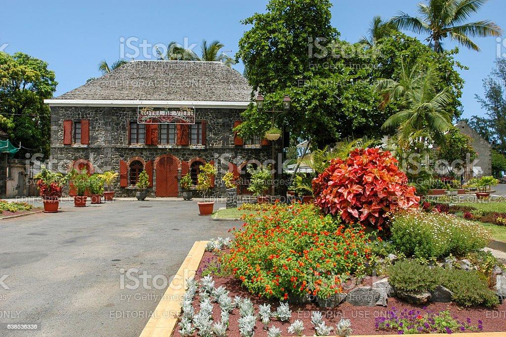 Town hall of Saint Leu on La Reunion island stock photo