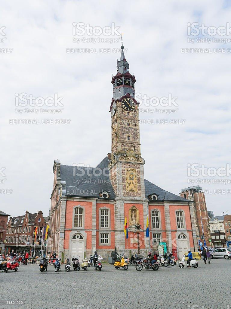 Town Hall of Sint-Truiden, Limburg, Belgium stock photo