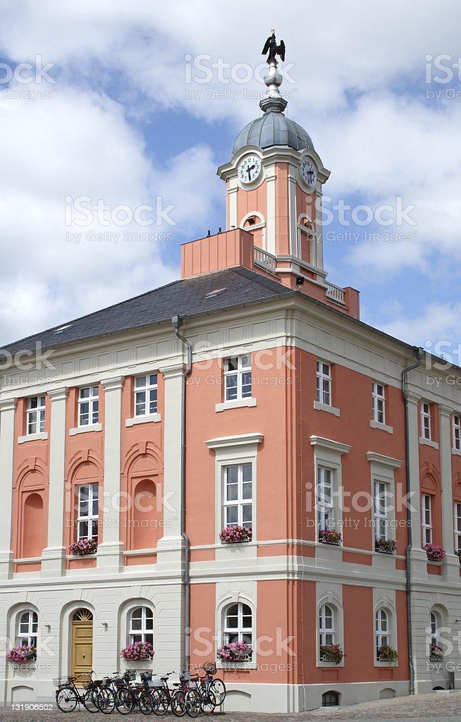 Town Hall of Templin stock photo