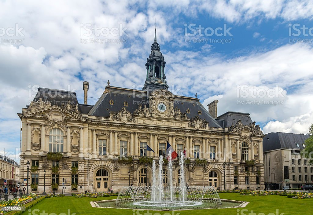 Town hall of Tours - France, Region Centre stock photo