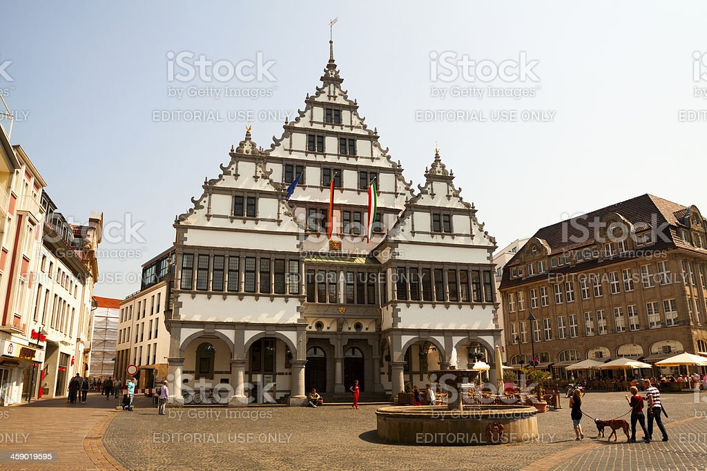 Town hall Paderborn stock photo