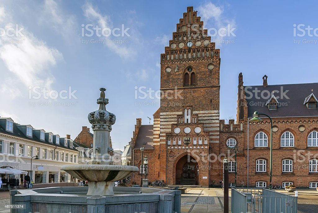 Town hall, Roskilde stock photo