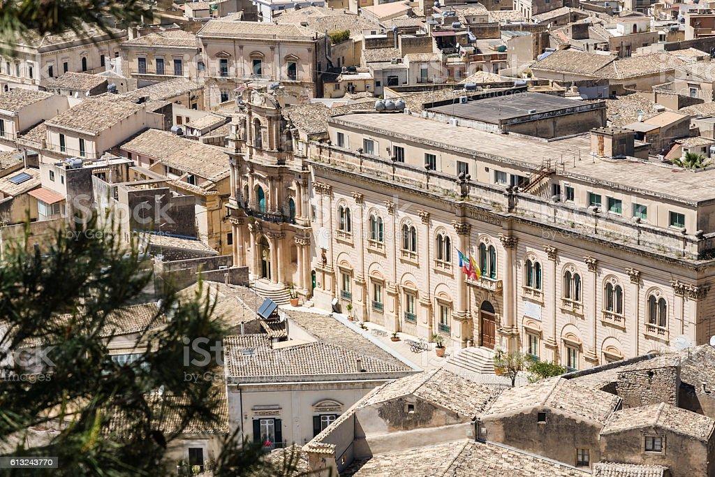 Town hall, Scicli, Sicily stock photo