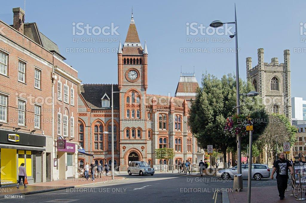 Town Hall Square, Reading, Berkshire stock photo