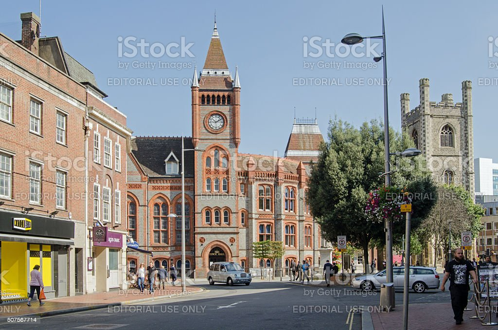 Town Hall Square, Reading, Berkshire stock photo