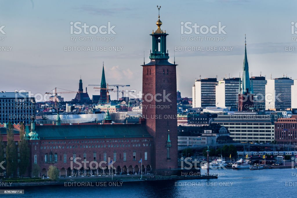 Town Hall Stockholm Sweden stock photo