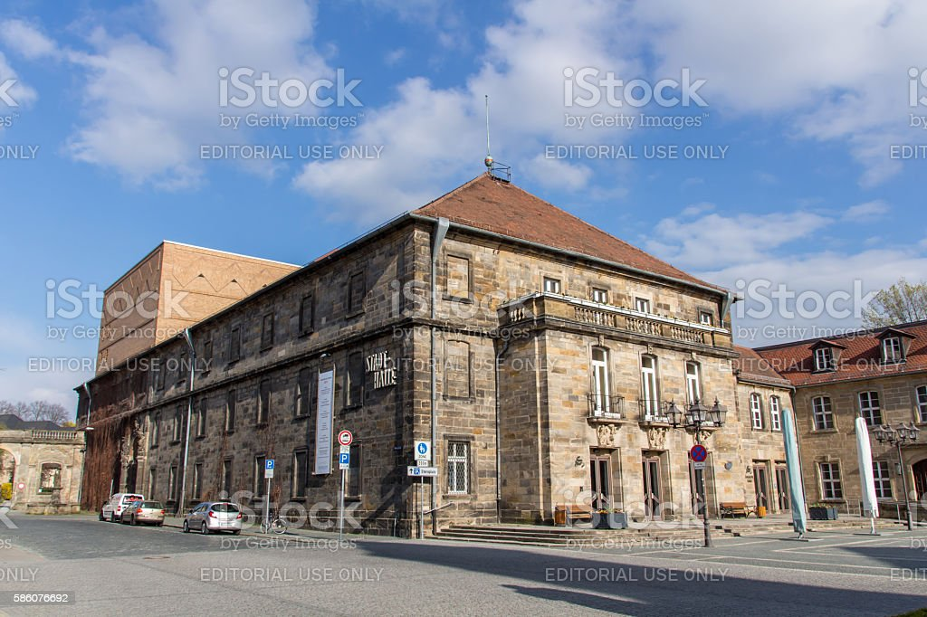 Town Hall Theater of Bayreuth, Germany, 2015 stock photo